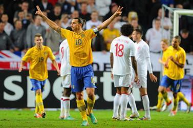 伊布大四喜,瑞典4-2逆转战胜英格兰