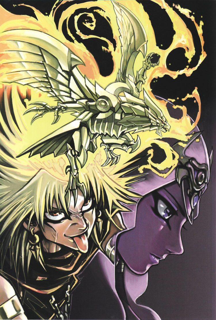 经典鉴赏12:黑魔导vs青眼白龙!——《游戏王》画集欣赏
