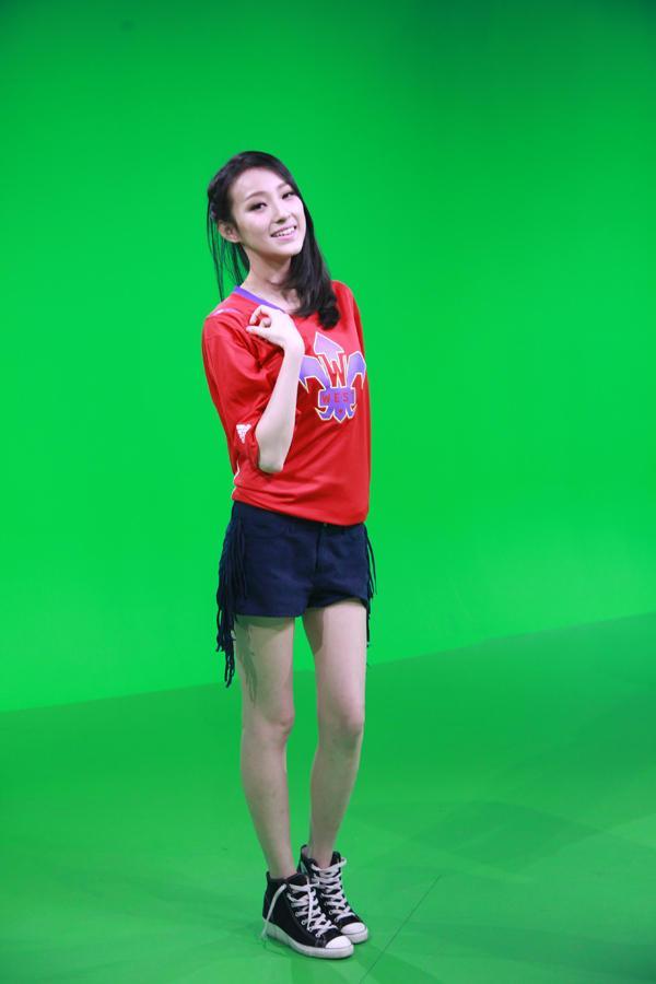 【纱布随风】腾讯nba美女主播凡凡身穿2014全明星